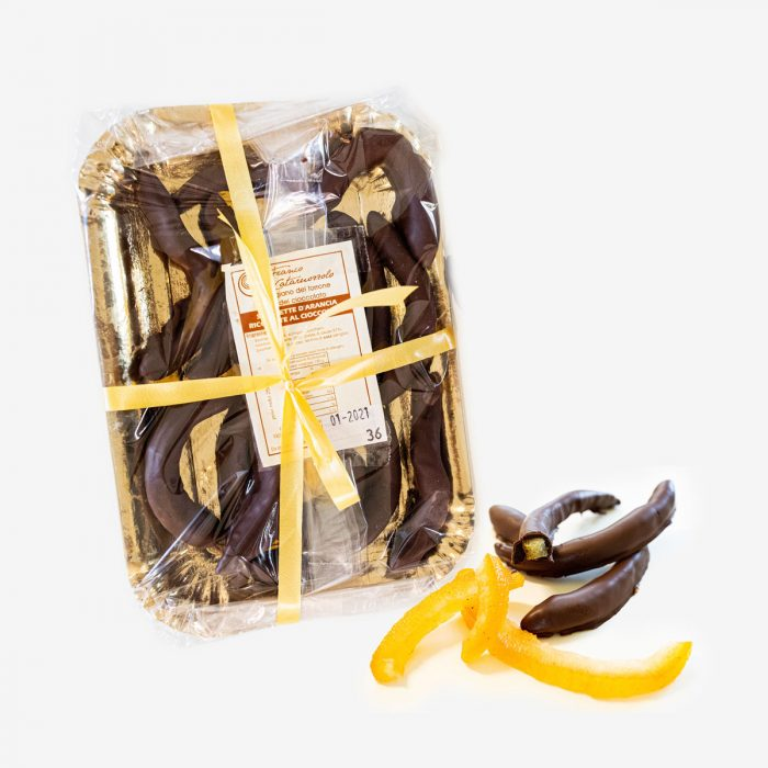 Scorzette d'arancia ricoperte di cioccolato - Torroni Franco Cataruozzolo