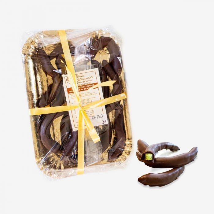 Scorzette di limone ricoperte al cioccolato - Torroni Franco Cataruozzolo