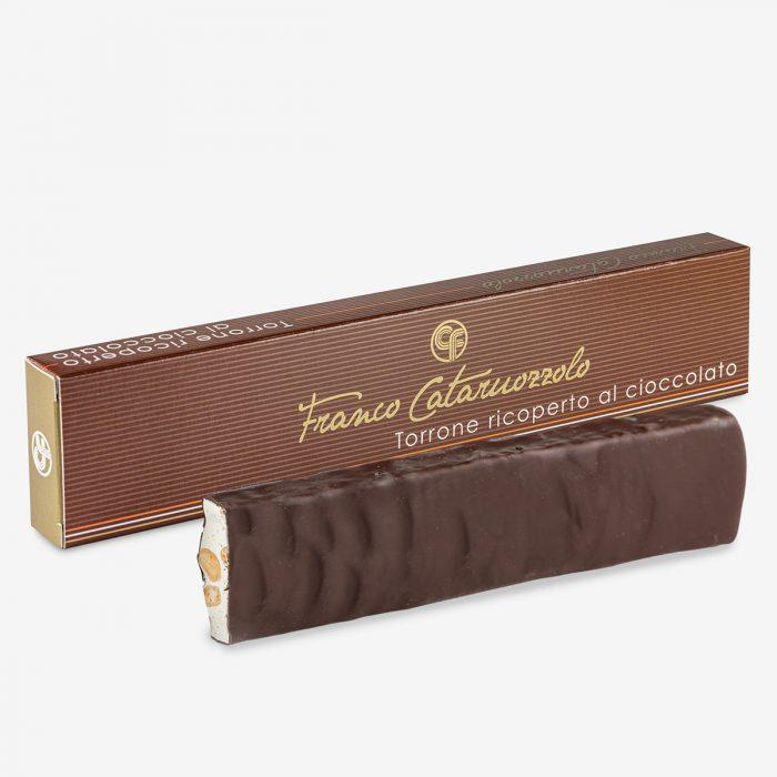 Torrone alle mandorle ricoperto di cioccolato - Torroni Franco Cataruozzolo